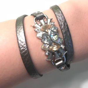 GRAY BaubleBar Wrap Bracelet